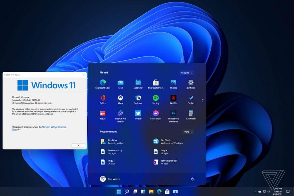 Microsoft a prezentat Windows 11, cu un design nou şi o performanţă mai bună
